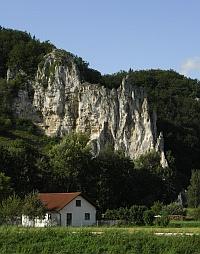 Haus mit Berge
